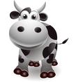 cute cow cartooon vector image vector image