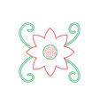 cute flower swirl nature festive decoration icon vector image
