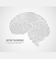 digital human brain with computer circuit board vector image vector image