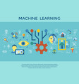 digital machine learning vector image vector image