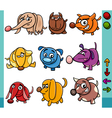 dogs game characters cartoon vector image vector image