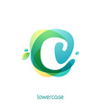 ecology lowercase letter c logo overlapping vector image vector image
