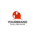 elephant cute logo design template vector image