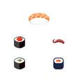 flat icon sashimi set of seafood sashimi vector image