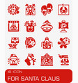 for santa claus icon set vector image