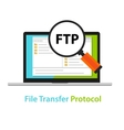 FTP file transfer protocol computer icon symbol vector image vector image