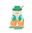 funny oktoberfest man in a hat munich festival vector image vector image