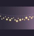 garland made of shining big small glittering stars vector image