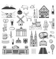 germany sybmols objects and characters vector image vector image