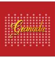 granada hand lettering vector image vector image