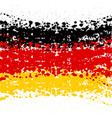 grunge blots germany flag background vector image vector image