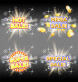 hot mega super and special sales banner set vector image