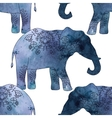 Indian elephant with beautiful pattern vector image