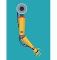 industrial robot arm industry factory vector image vector image