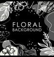 instagram post floral background flower monochrome vector image