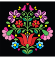 Kalocsai embroidery - Hungarian folk pattern vector image vector image
