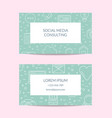 line blog icons business card isolated vector image