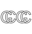 logo sign gc cg icon sign interlaced letters c g vector image vector image
