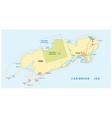 map honduran caribbean island utila vector image vector image