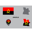 Map of Angola and symbol vector image vector image