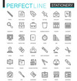 office stationery thin line web icons set outline vector image vector image