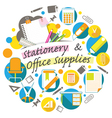 Office Supplies and Stationery Heading vector image