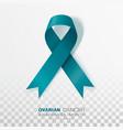 ovarian cancer awareness month teal color ribbon
