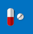 pills icon flat isolated sign symbol vector image