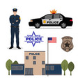 police set vector image vector image