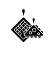 pot holders black icon sign on isolated vector image vector image
