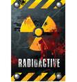 radioactivity plate vector image vector image