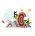 reach target concept flat style design vector image