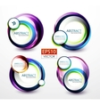 Round swirl banners vector image vector image