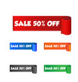 sale 50 off sticker label on white background vector image vector image