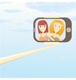 selfie cartoon people vector image