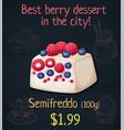 semifreddo with berries icon cartoon vector image vector image