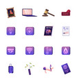 set icons masterpiece picture laptop vector image vector image