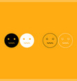 smiley it is white icon vector image vector image