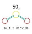 SO2 sulfur dioxide molecule vector image vector image