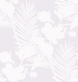 Subtle seamless pattern with drawn flowers plants