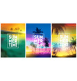 summer tropical backgrounds set with palms sky vector image vector image