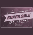 super sale banner or voucher design template vector image vector image
