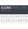 Three D Printer Thin Line Icons vector image
