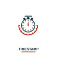 timestamp icon creative two colors design from vector image vector image