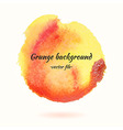 watercolor grunge background yellow and orange vector image