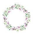 watercolor hand painted wreaths vector image vector image