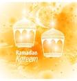 Watercolor yellow blob Ramadan kareem vector image vector image