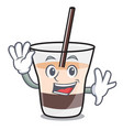 waving white russian character cartoon vector image vector image