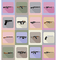weapon flat icons 19 vector image vector image