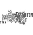 where to stay in st maarten text word cloud vector image vector image